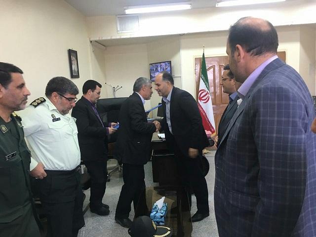 تجليل فرماندار و اعضای شورای تامين شهرستان از رئيس دادگستری و دادستان كوهدشت